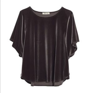Madewell Velvet Butterfly Top with Dolman Sleeves